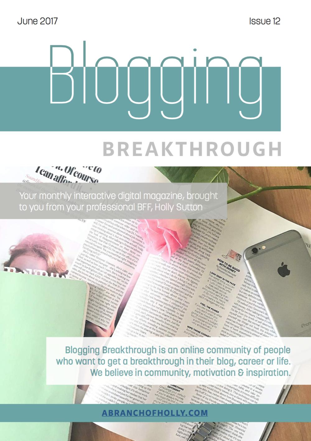 blogging breakthrough june 2018 issue 12