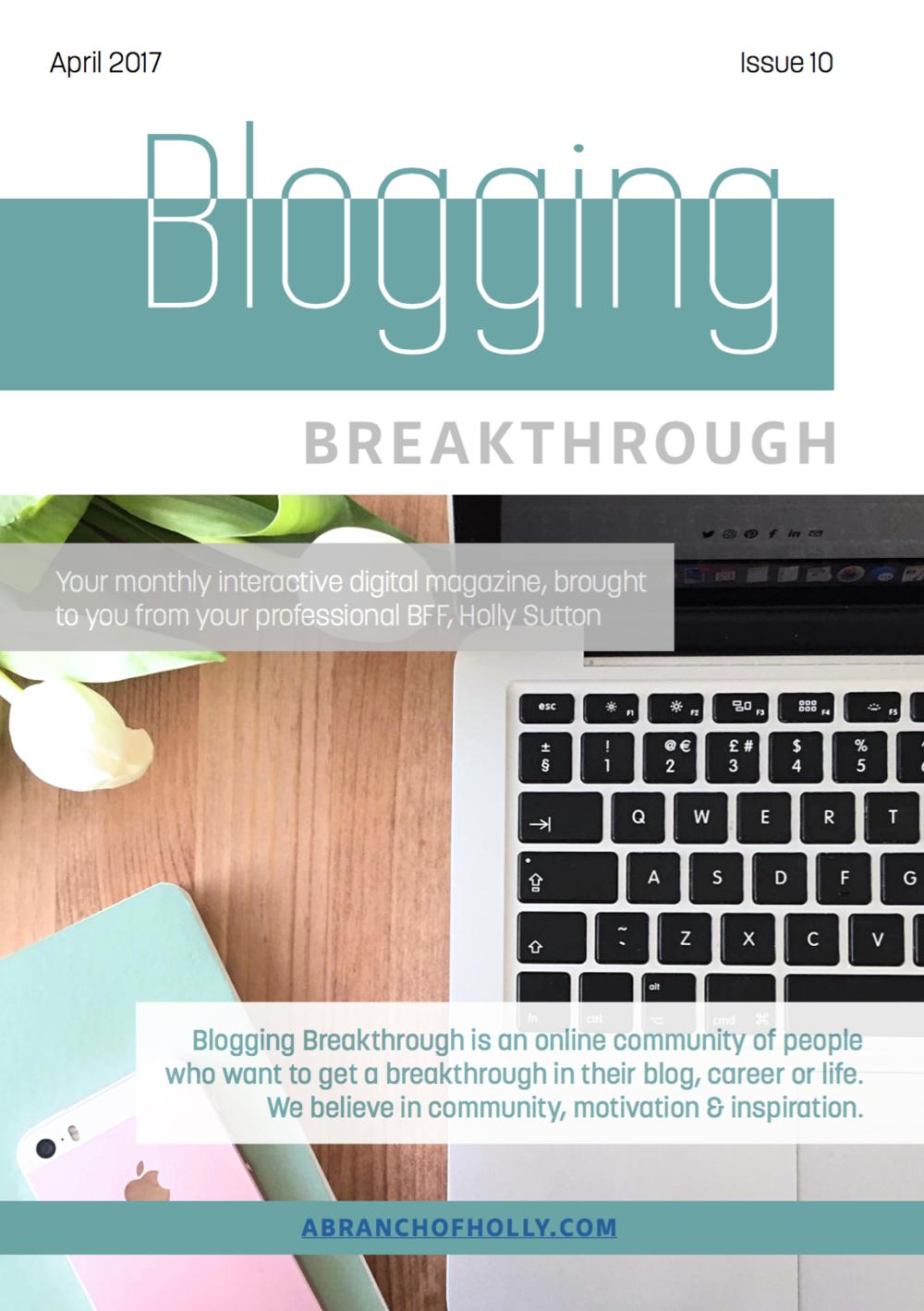 blogging breakthrough april 2017 issue 10