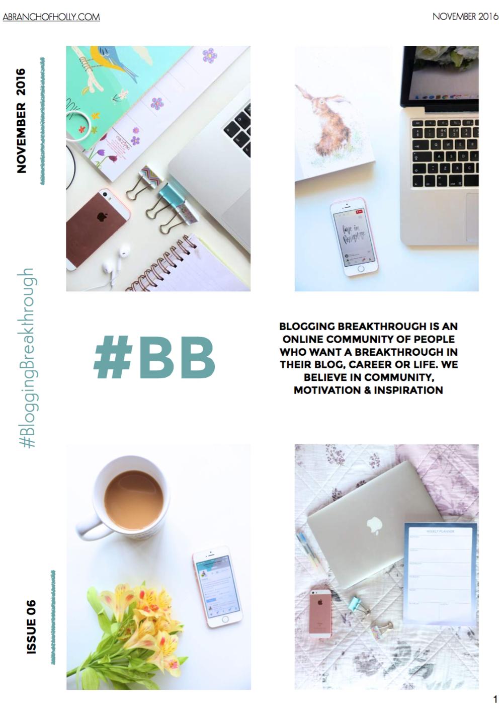 blogging breakthrough november 2016 issue 06