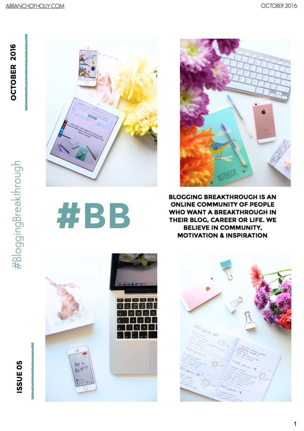 blogging breakthrough otober 2016 issue 05