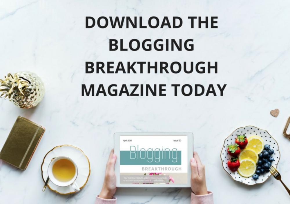 blogging breakthrough magazine