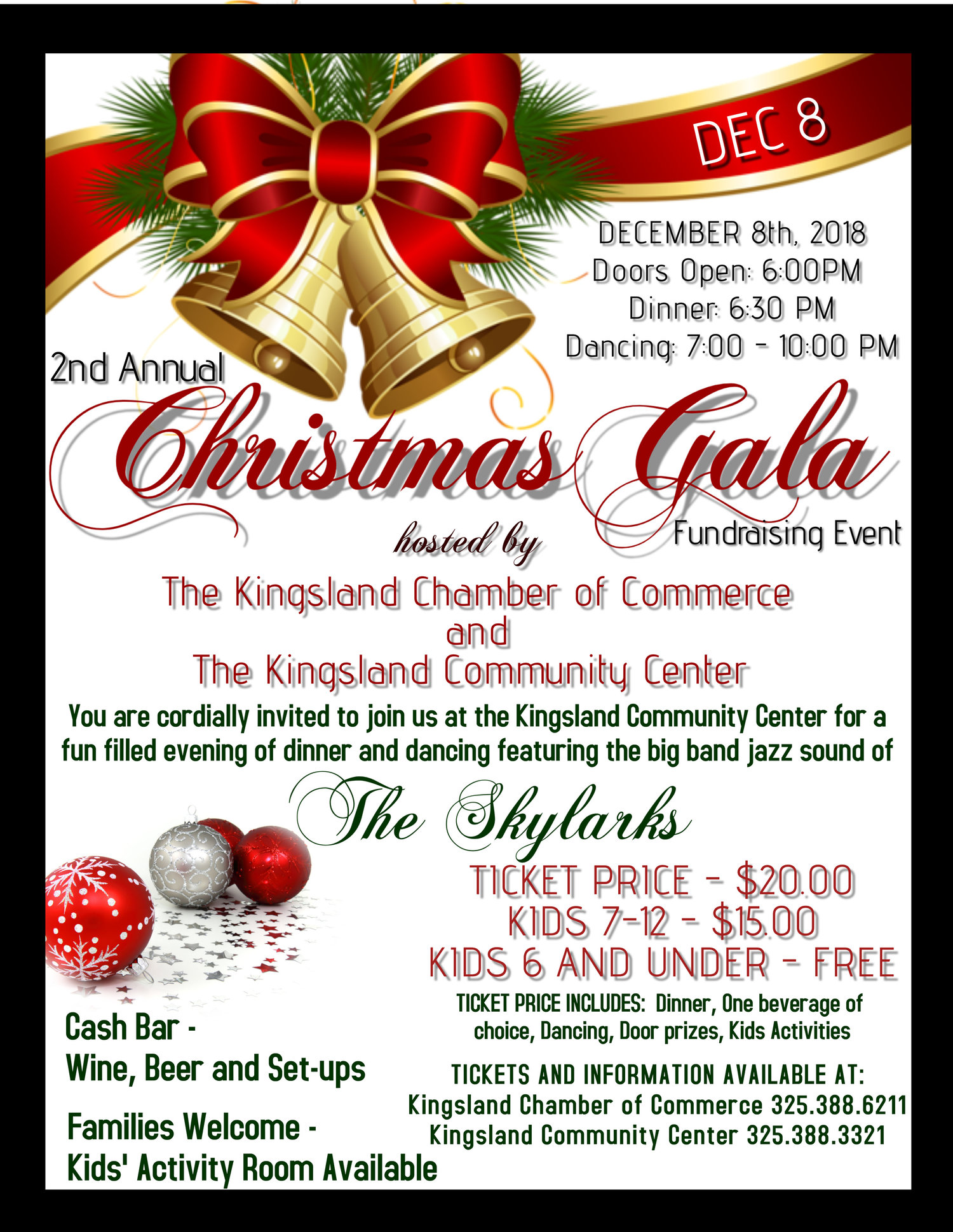 CHRISTMAS GALA — Kingsland/Lake LBJ Chamber of Commerce