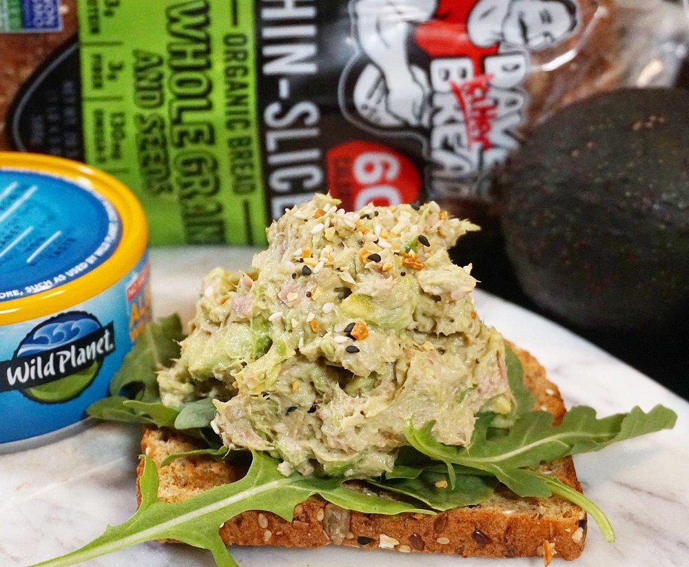 Tuna Avocado Toast (Dave's Killer Bread).JPG
