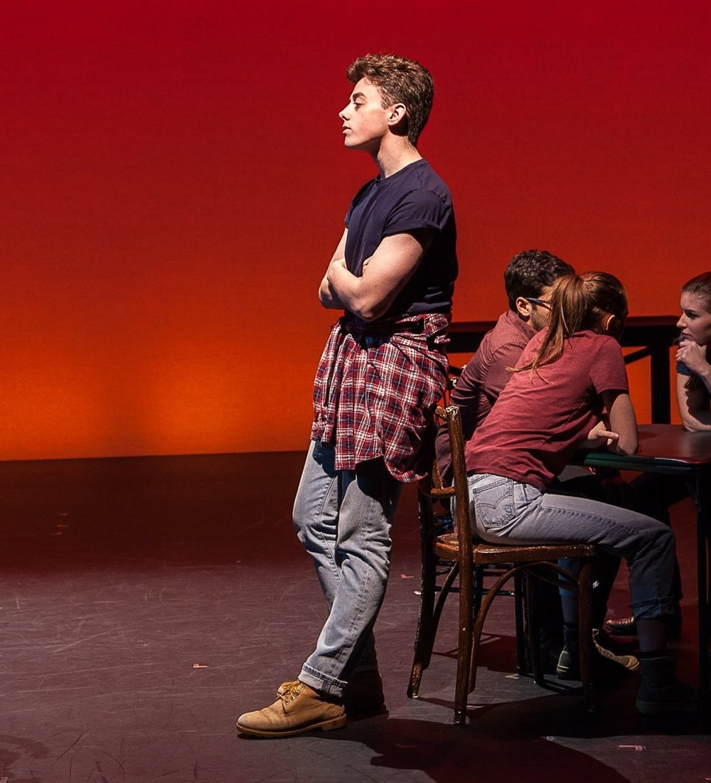 Matthew in Marymount Manhattan College's production of  The Laramie Project  at New York Live Arts.