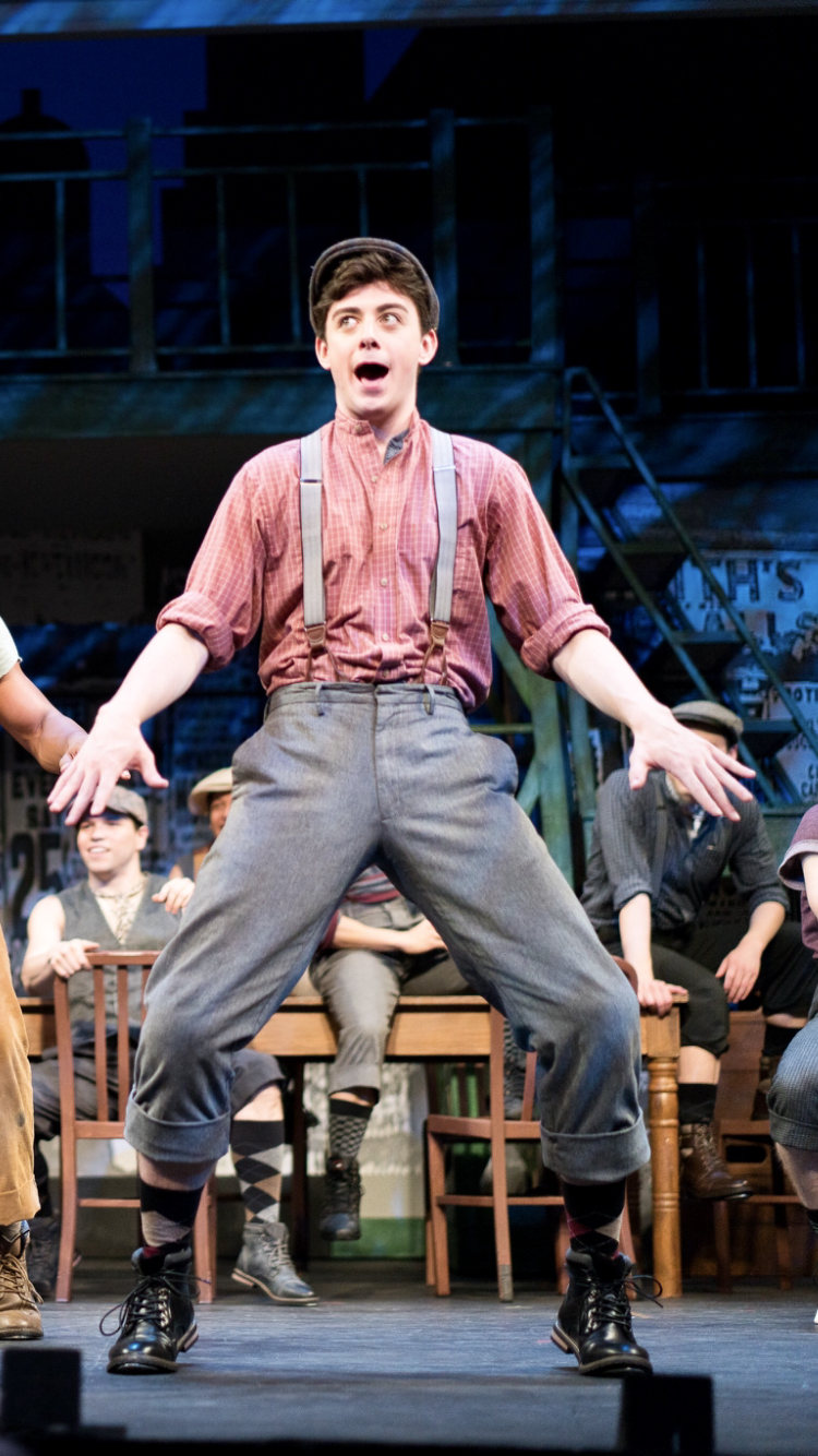Matthew in  Disney's NEWSIES  at the Fulton Theatre in Lancaster, PA. Photo courtesy of Kinectiv.
