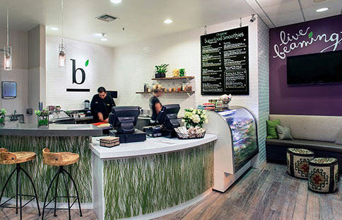 Beaming - **OUR FAVORITEThe best smoothies and acai/pitaya bowls everRecs: Blue-Phoria or Mint Chip Smoothie and Acai or Pitaya Bowls
