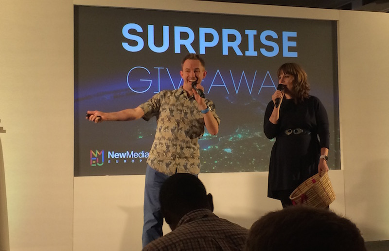 Surprsie Giveaway by Mike Russell and Izabela Russell at New Media Europe 2015