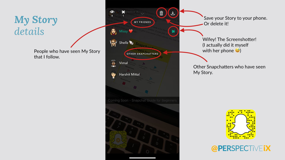 Snapchat MyStory Details - iX Snapchat Guide - Perspective IX