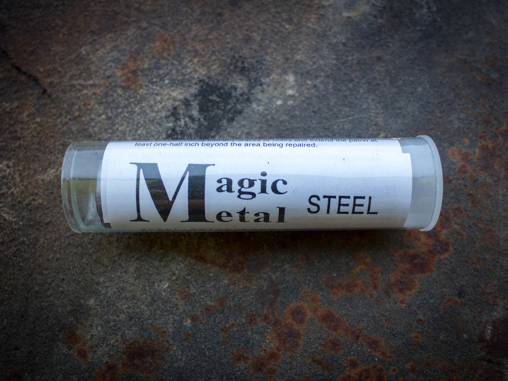 - Magic Metal™ SteelSteel Enforced Epoxy Resin rebuilds small engine parts, seals leaks, fills cracks and voids in metal, forms nuts & bolts. Repair stripped threads & anchore machines, metal tools, equipment, ducts, housing & appliances.