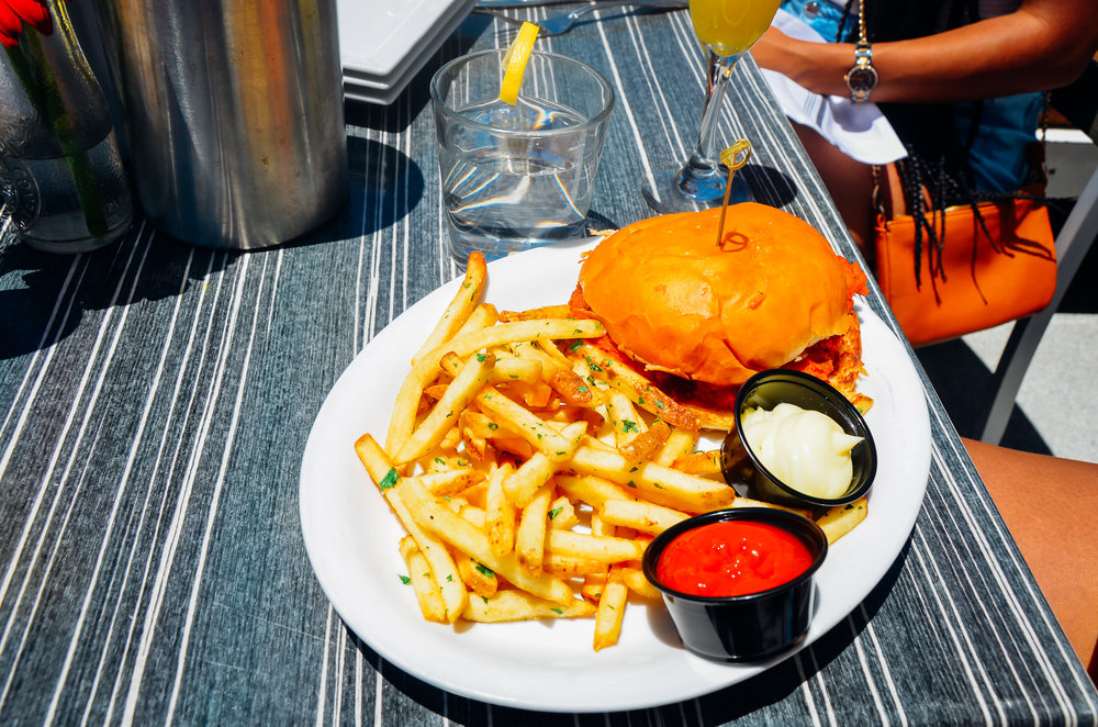 Chicken Sandwich and Fries. The French Fries were one of our favorites!