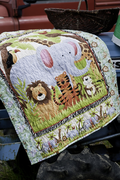 Jungle Animal Cot Quilt