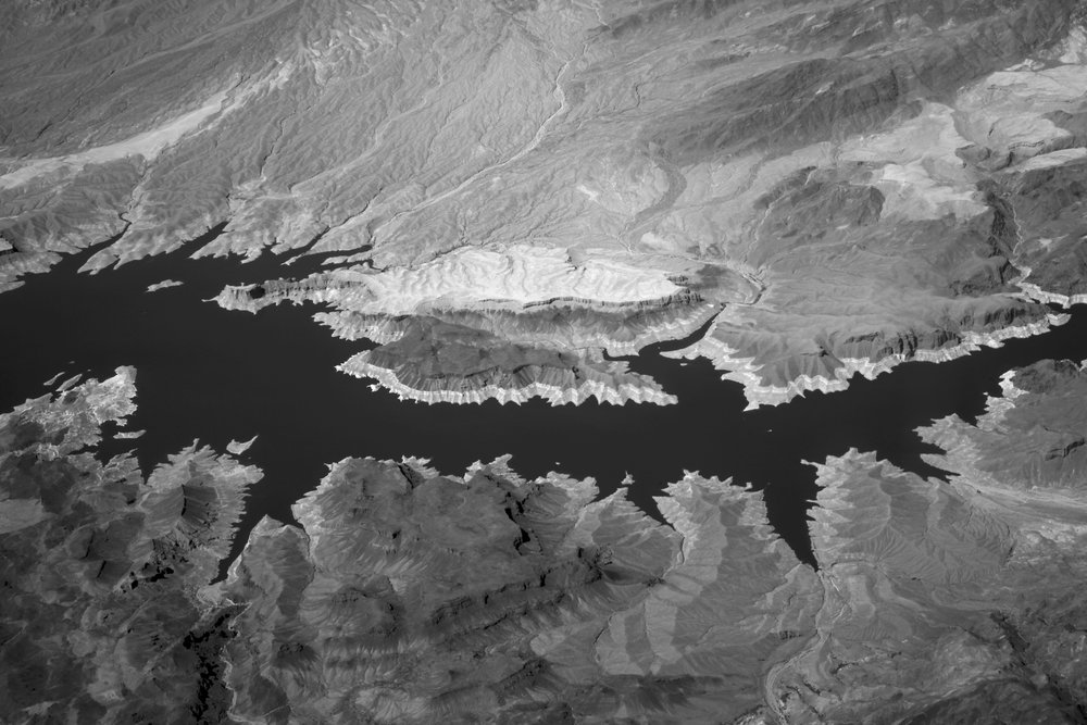 Aerial View above Hoover Dam