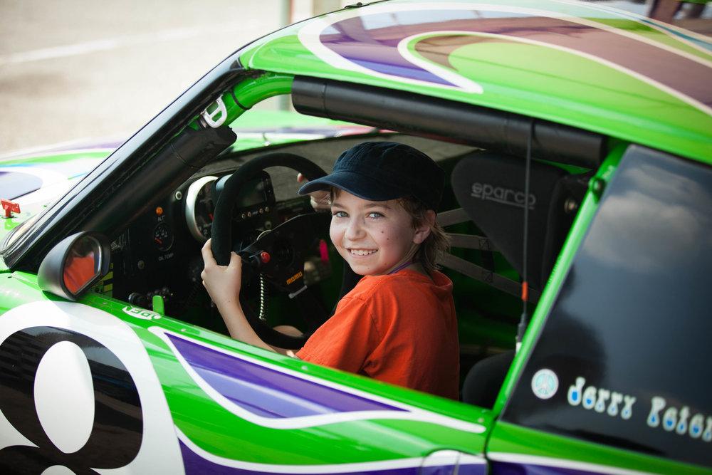 Nolan in a Porsche 911 at Road Atlanta