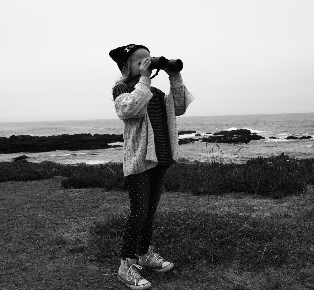 Nico with Binoculars