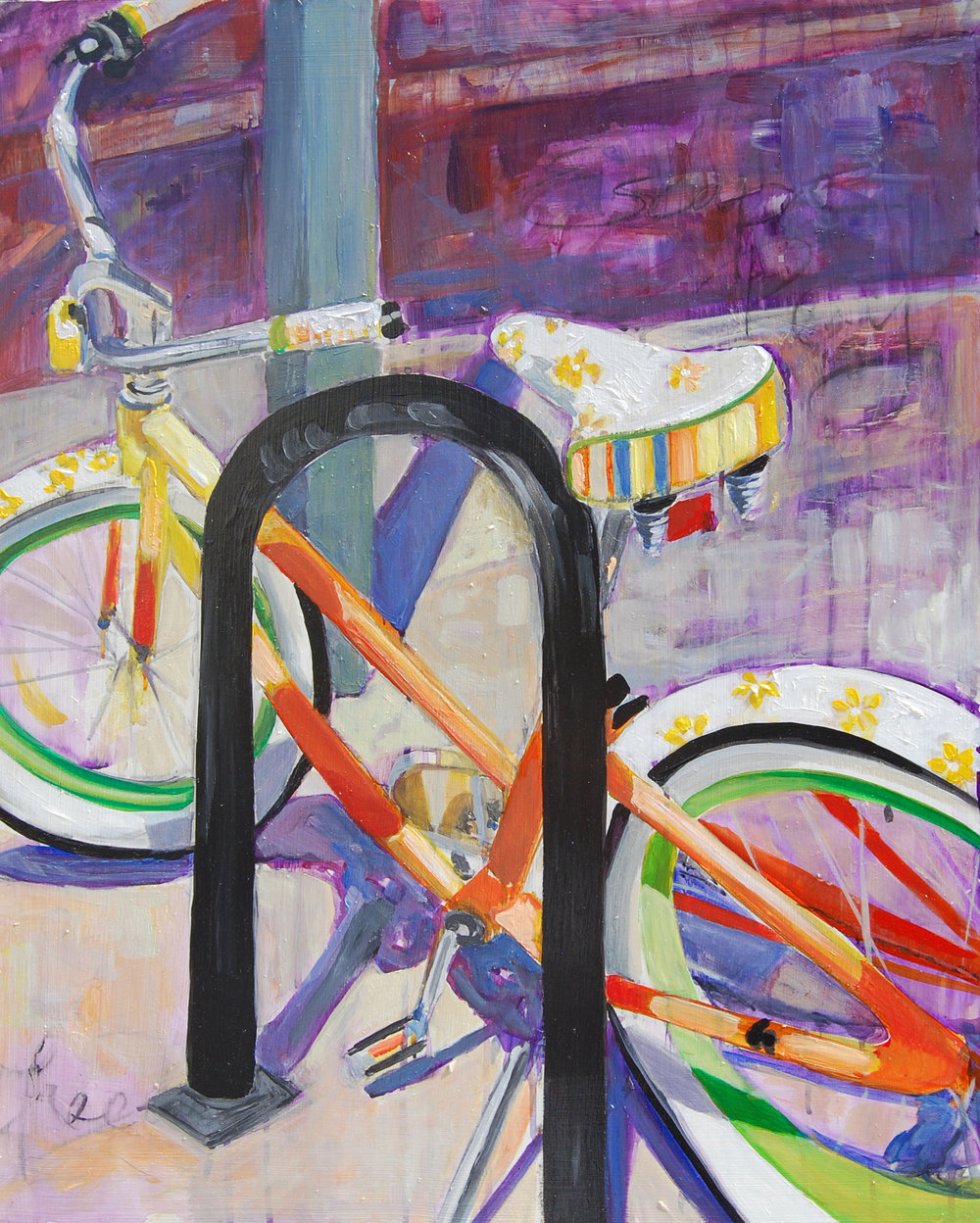 "SOLD Joy Ride 30"" x 40"" acrylic on canvas"