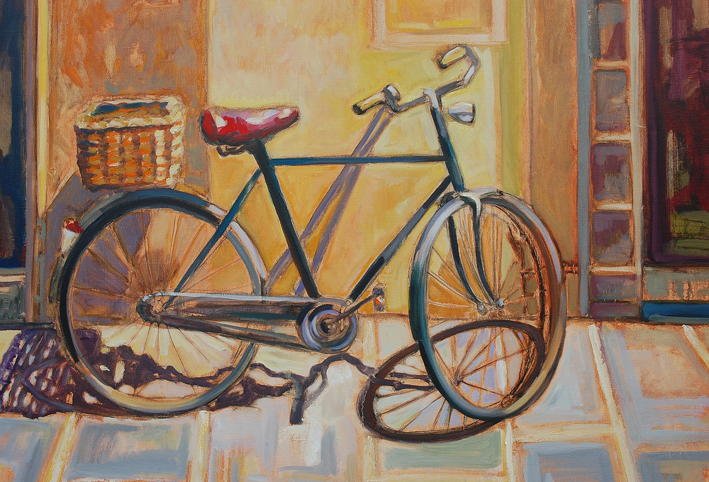 "Bicicletta 30"" x 40"" oil on linen"