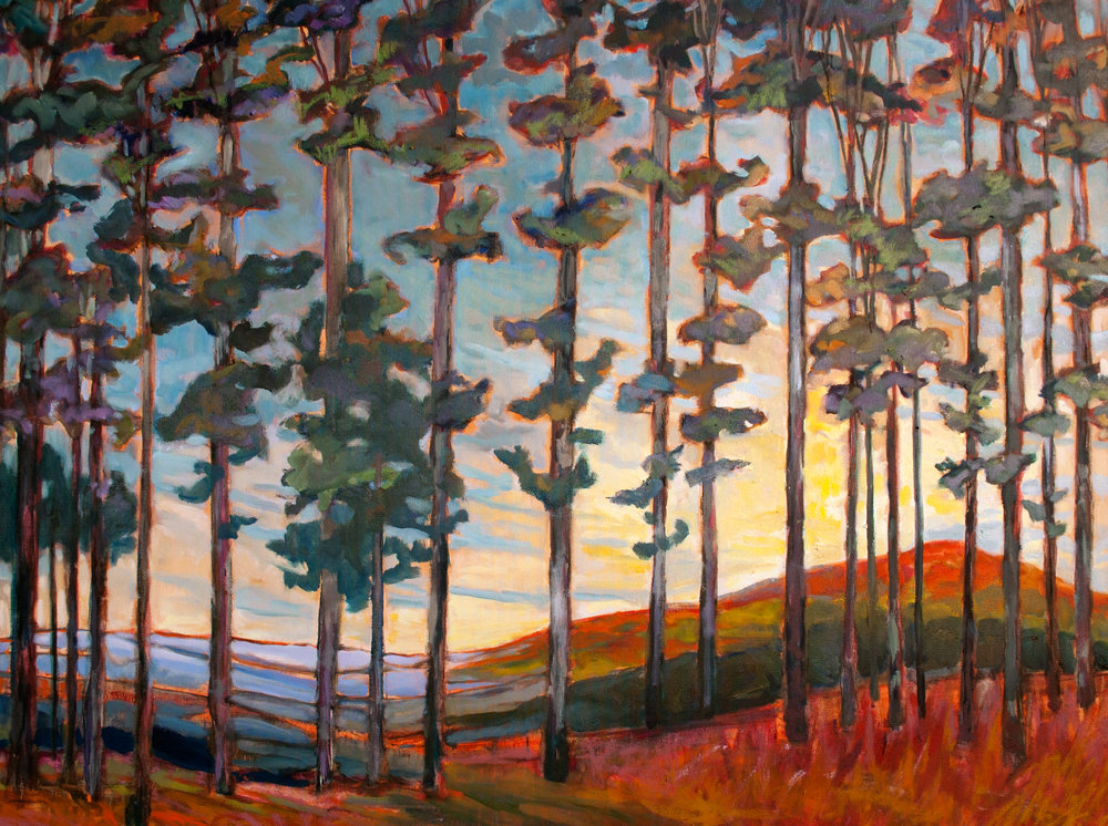 "Walk through the Woods 36""x48"" oil on canvas"