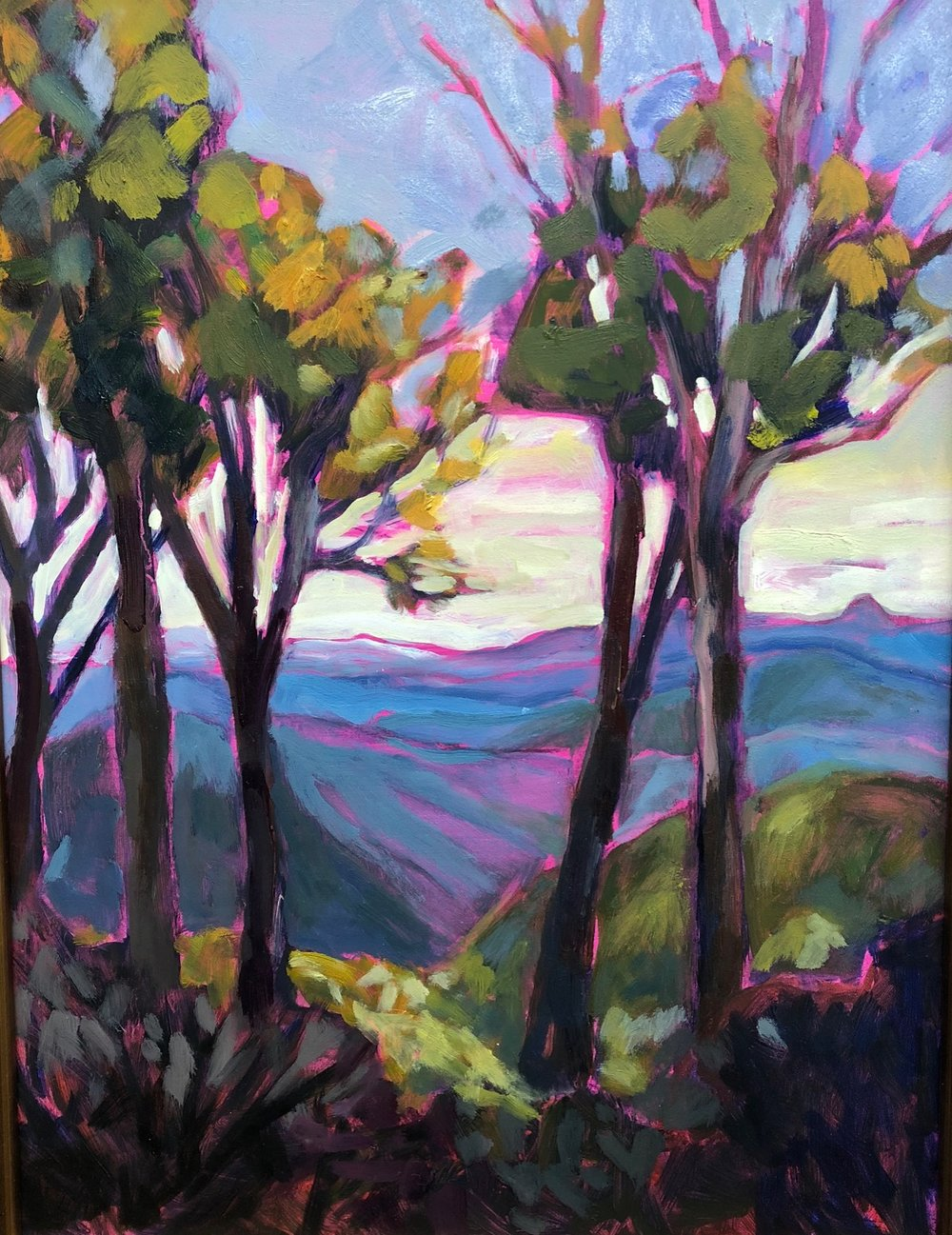 "Gideon Ridge, 12"" x 16"", Oil on Wood"