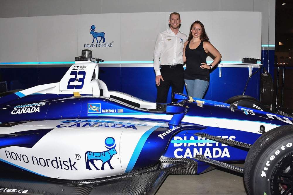 Dr. Deanna meeting the amazing T1D Indy Racer Charlie Kimball. What an honour!