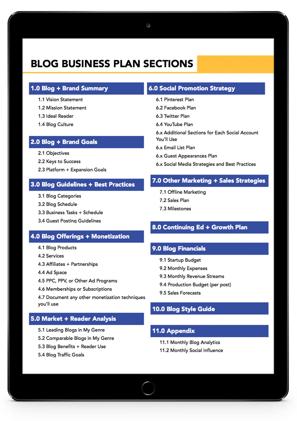 Blog business plan: The ultimate guide, template, and workbook on how to create a business plan for your blog