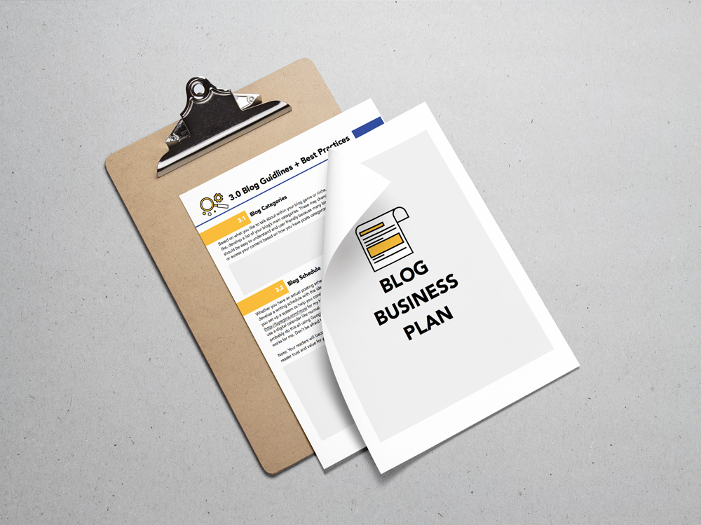 Blog Business Plan Workbook--free for you!