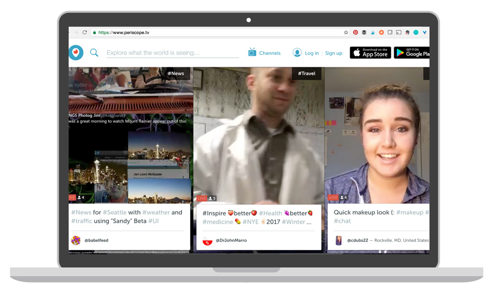 Live mobile broadcasts are a quick, informal way to add value to your audience or create online course content