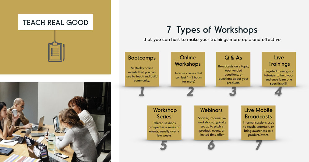 The 7 Types of Online Workshops You Can Host