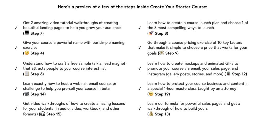A preview of what's inside Create Your Starter Course.png