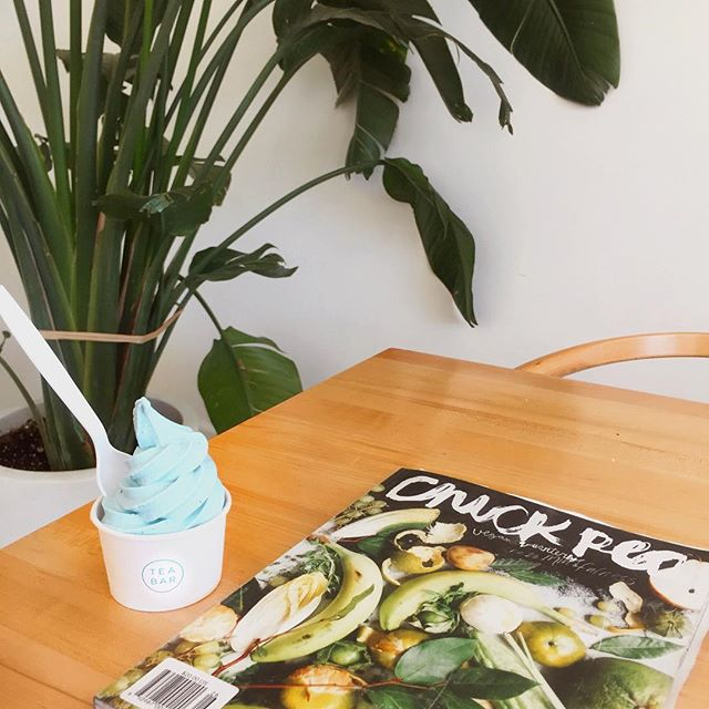 vegan mint majik soft serve and a quiet moment with @chickpea_mag in celebration of #InternationalSelfCareDay