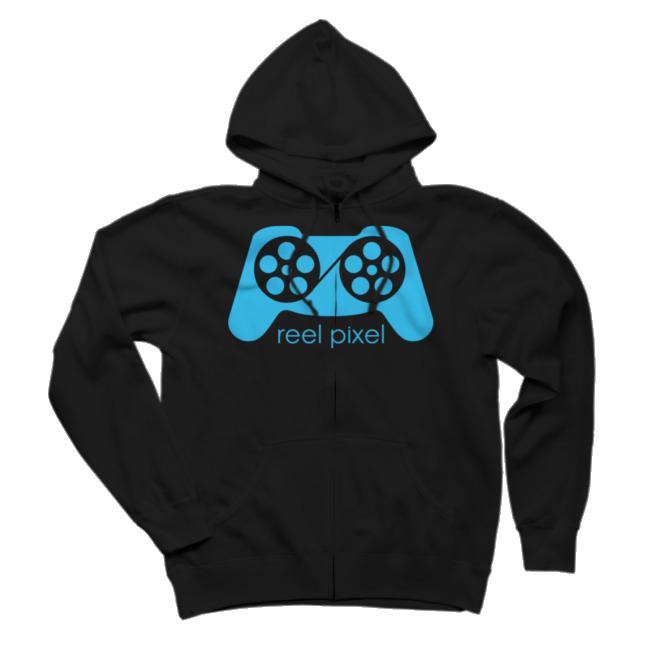 Reel Pixel Logo Zip Hoodie $48