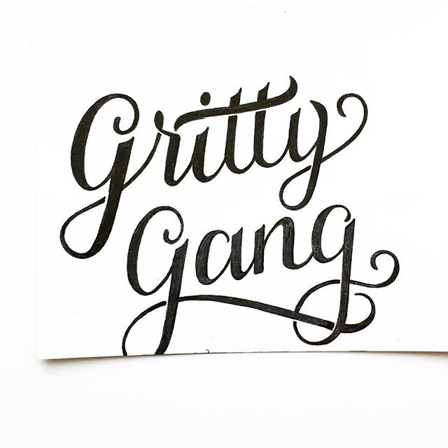 Where my fellow Gritty Gang folks at?? Gritty is the best EVER and I love him. I'm thinking I might want this on a t-shirt or a sticker after some cleanup.  #Gritty #GrittyGang #phillyartist #HandLettering #grittymemes #grittynhl #pigmamicron #calligraphy #etsyseller