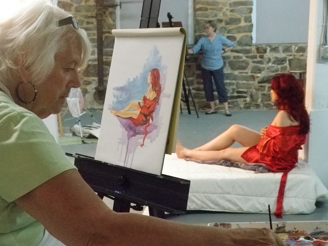 Figure Drawing, every Friday 10-1  Artist: Connie Gilbert; Model: Nori Zelenz