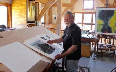 Dan Welden - Dan is a master printmaker, painter, educator and author. He has been making prints and works on paper for over 50 years. His work has been shown in museums and galleries throughout the world and his work is in many public and private collections throughout the country. He is the originator of Solarplate printmaking, a healthier and safer way or printmaking. He has given several workshops here and we look forward to having him back!