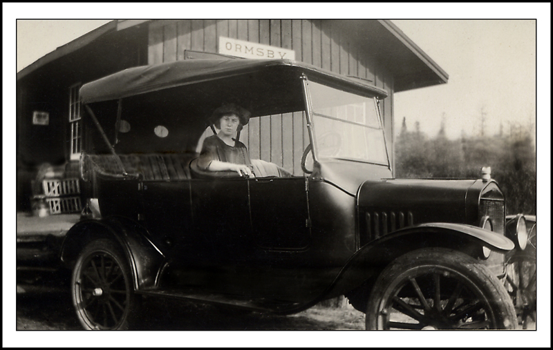 Jean Park at the Ormsby Train Station c.1930s.