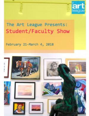 The Art league2018 Student faculty show - February 21 - March 4, 2018The Torpedo FactoryAlexandria, Virginia