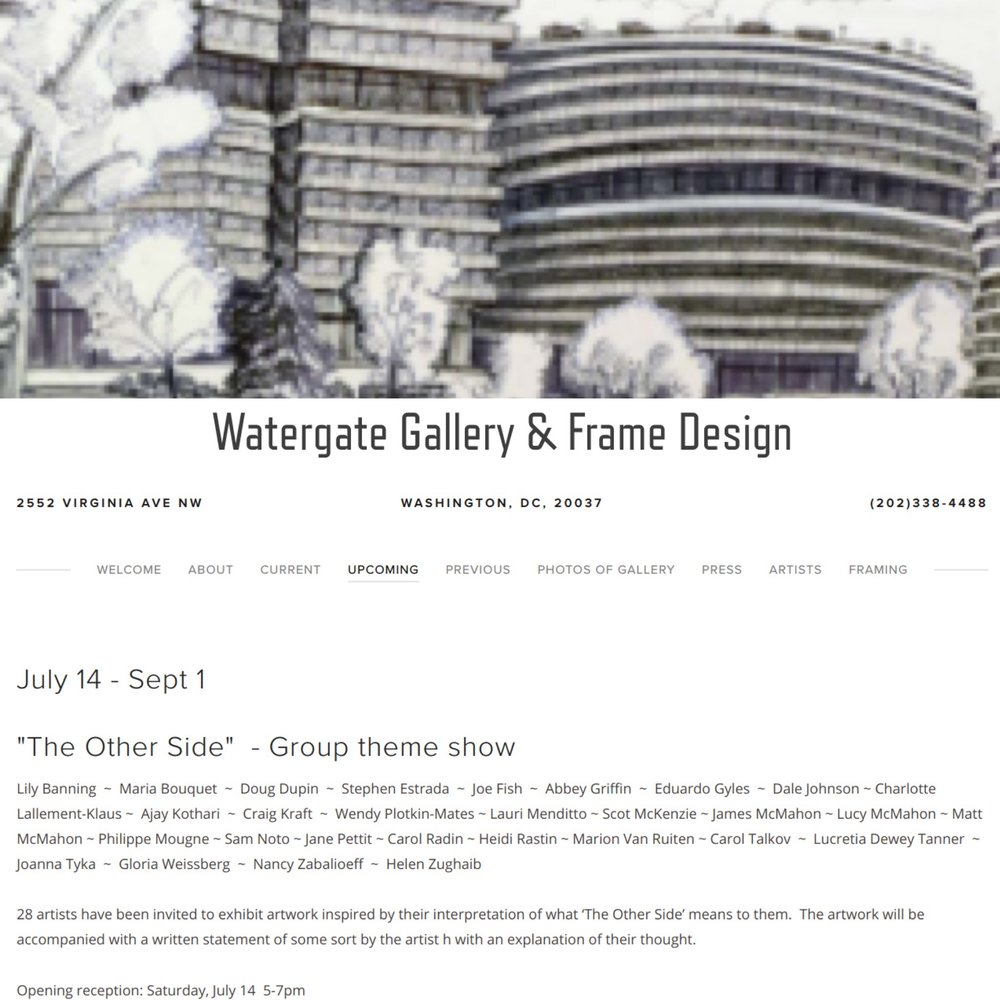 Watergate gallery - July 14 - September 1, 2018Watergate GalleryWashington DC