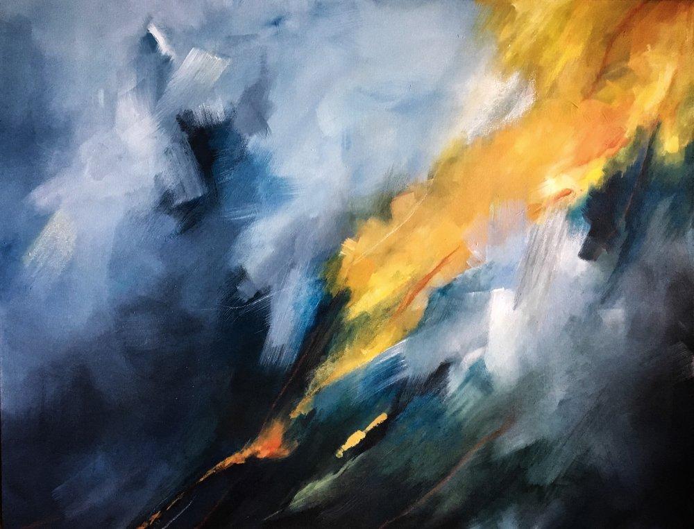 "Callan - 28"" x 36""Acrylic on canvasSOLD"