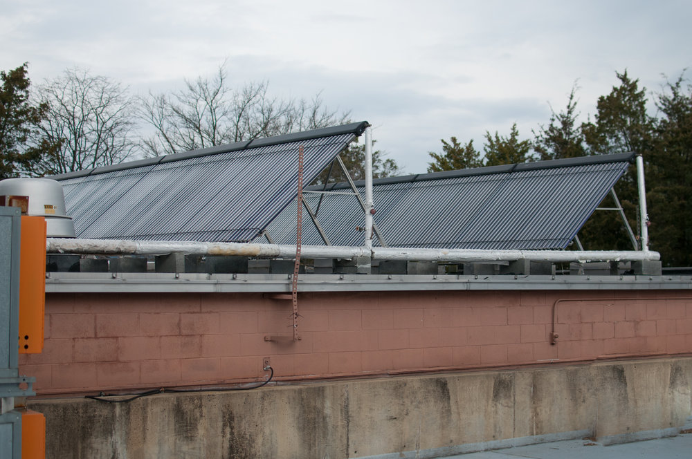Solar panels on the roof of our Virginia factory