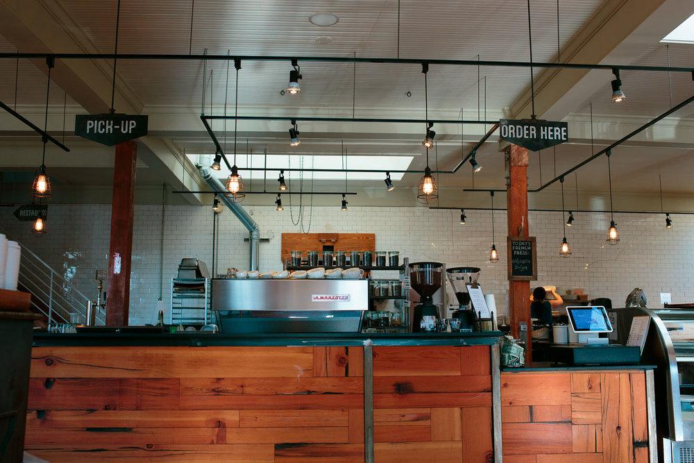 downtown salt lake city coffee shop interior