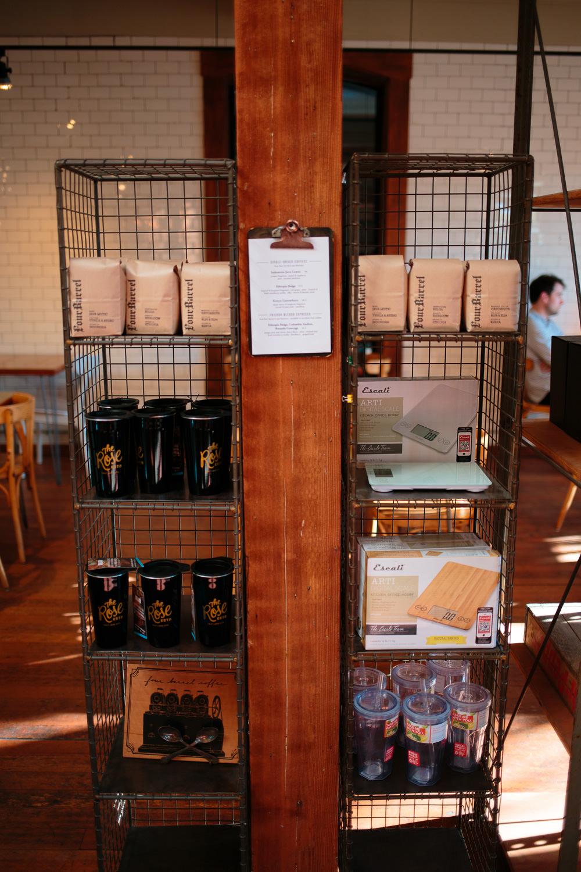 utah coffee shop serving four barrel coffee