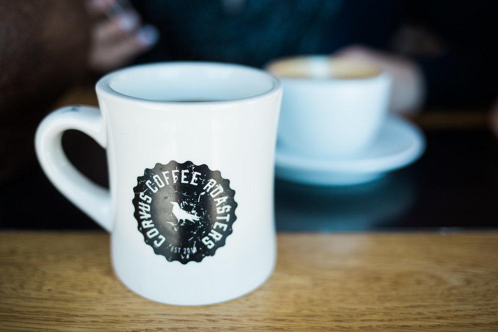 Corvus Coffee Diner Style mug