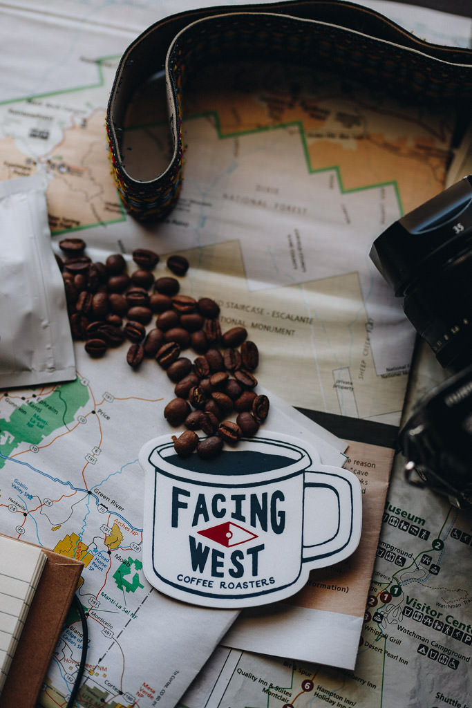 Coffee Roaster Logo and Branding Sticker
