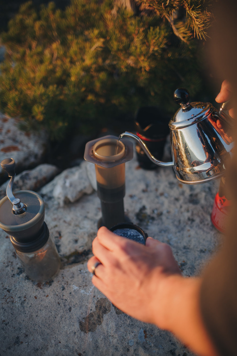 Brewing with an Aeropress at the Grand Canyon