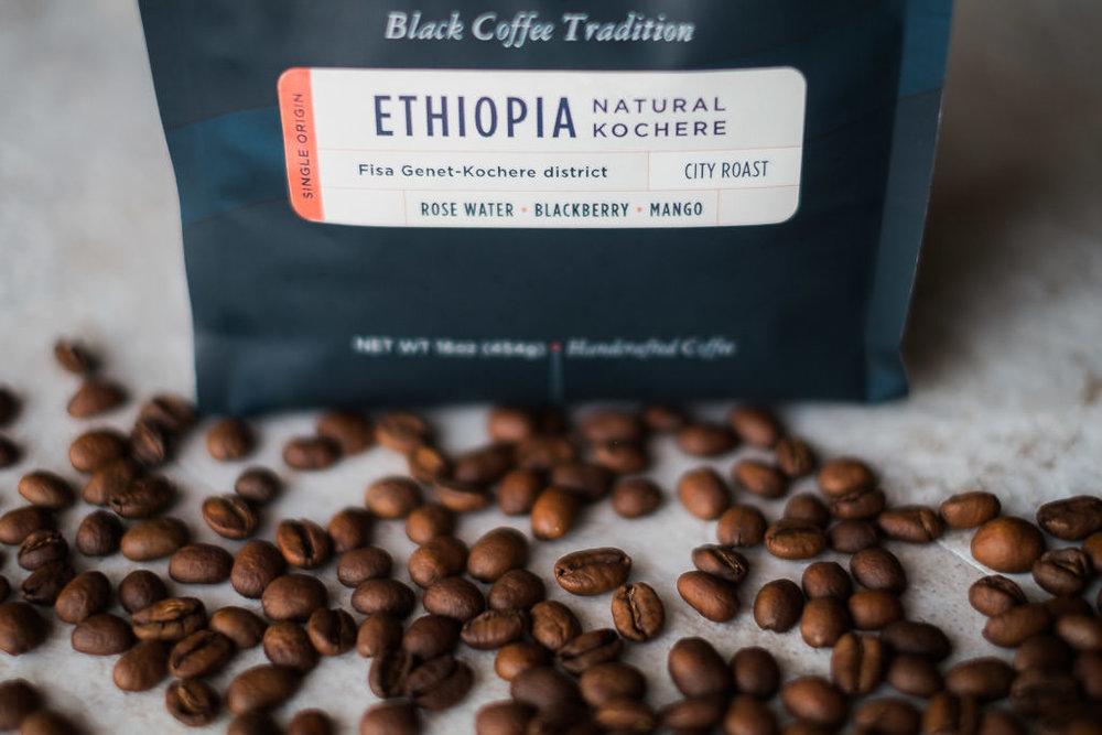 Ethiopia Whole bean coffee light roast