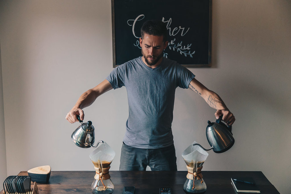 Barista Double Brewing Chemex Coffee for Kruve Taste Test