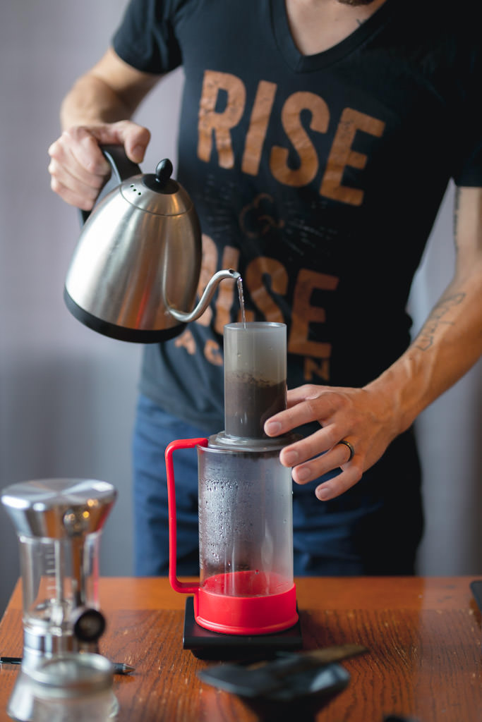 Brewing coffee with the Aeropress
