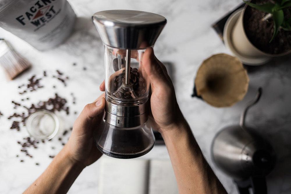 Handground precision hand burr grinder