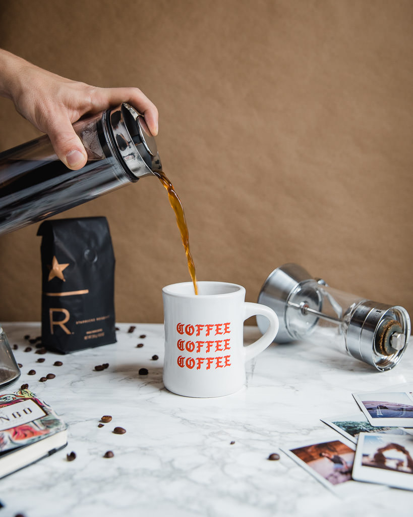 Starbucks Reserve coffee brewed with the American Press