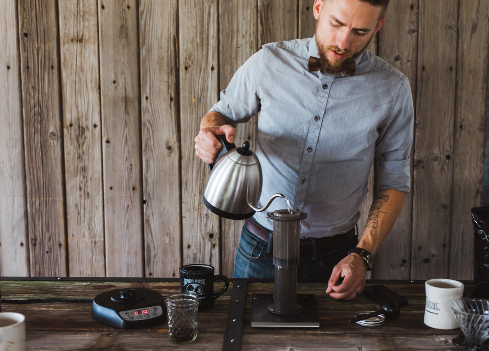Handsome Wade Barista how to make coffee Aeropress