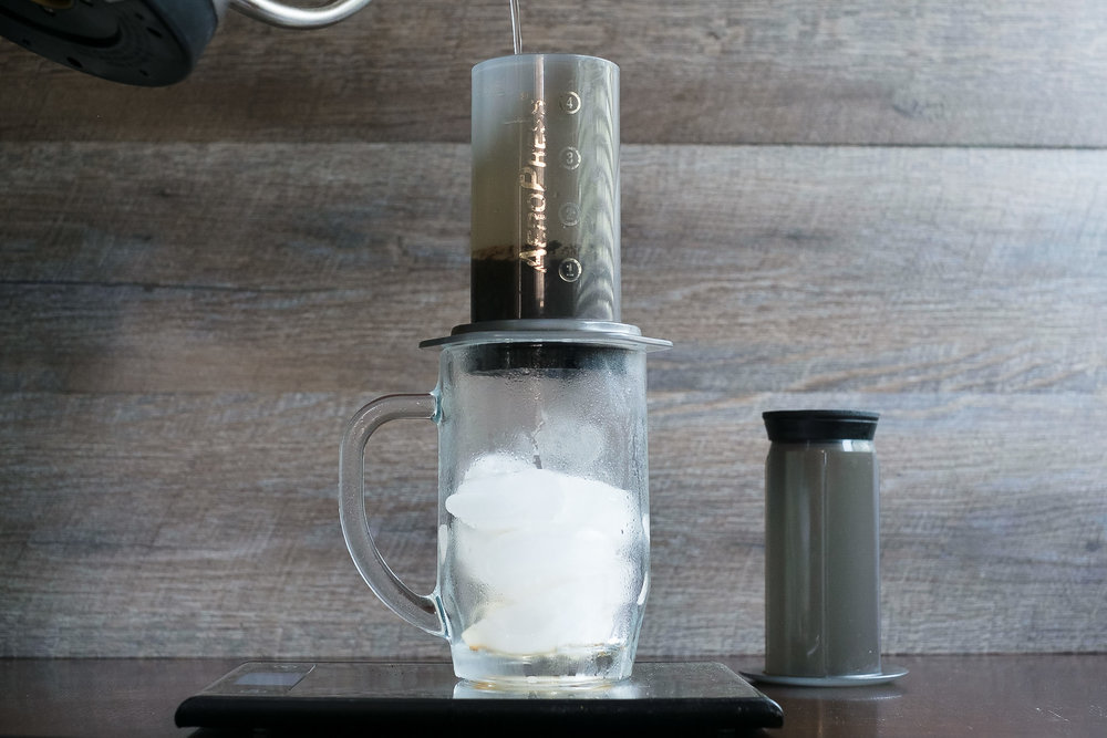 Pour to weight in 30 seconds